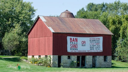 frac sand barn
