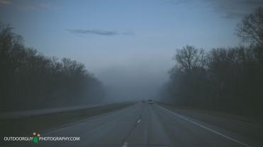 Pre snow storm fogging morning