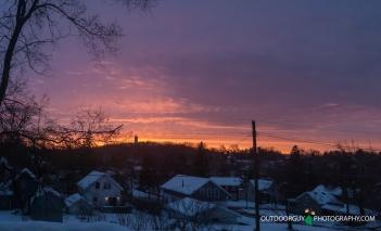 Post snow storm sunset