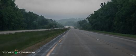 foggy rainy morning