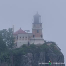 Split Rock Lighthouse in fog