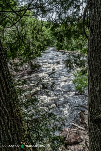 upstream from Devil's Kettle