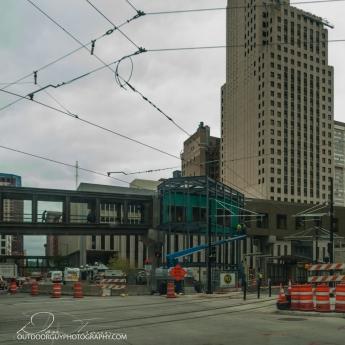 St. Paul light rail under construction