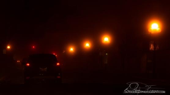 Foggy a.m. @ stop light